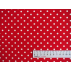 Puntíky - Bavlněné plátno - Červená - 100% bavlna