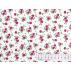 Flowers - Cotton plain - White, Burgundy - 100% cotton