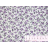 Flowers - Cotton Sateen - White, Violet - 100% cotton