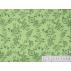 Flowers - Cotton Sateen - Green - 100% cotton