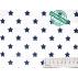 Hvězdy - Bavlněné plátno - Modrá - Antibakteriální