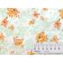 Květiny - Bavlněný satén - Bílá - 100% bavlna