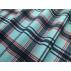 Kostky - Bavlněný satén - Modrá, Červená - 100% bavlna