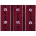 Květiny, Pruhy - Bavlněný kepr - Povrstvené PVC - Červená - 100% bavlna/100% PVC