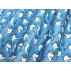 Dětské, Zvířata - Bavlněné plátno - Modrá, Bílá - 100% bavlna