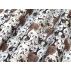 Zvířata, Dětské - Bavlněné plátno - Hnědá, Bílá - 100% bavlna