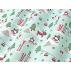 Vánoce, Dětské - Bavlněné plátno - Zelená - 100% bavlna