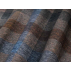 Kostky - Bavlněný satén - Modrá, Hnědá - 100% bavlna