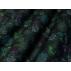 Květiny - Bavlněný satén - Zelená, Vínová - 100% bavlna