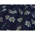 Květiny - Bavlněné plátno - Modrá - 100% bavlna