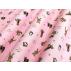 Dětské, Zvířata - Bavlněné plátno - Růžová - 100% bavlna