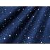 Hvězdy, Vánoce - Bavlněné plátno - Modrá - 100% bavlna
