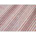 Pruhy - Lněné plátno - Červená - 100% len