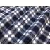 Kostky - Flanel - oboustranný - Modrá - 100% bavlna