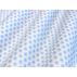 Květiny - Bavlněný popelín - Modrá - 100% bavlna