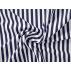 Pruhy - Bavlněné plátno - Modrá - 100% bavlna