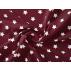 Hvězdy - Bavlněné plátno - Vínová - 100% bavlna