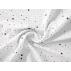 Hvězdy, Puntíky - Bavlněné plátno - Vínová - 100% bavlna