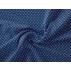 Puntíky - Bavlněné plátno - Modrá - 100% bavlna