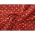Květiny - Bavlněné plátno - Vínová - 100% bavlna