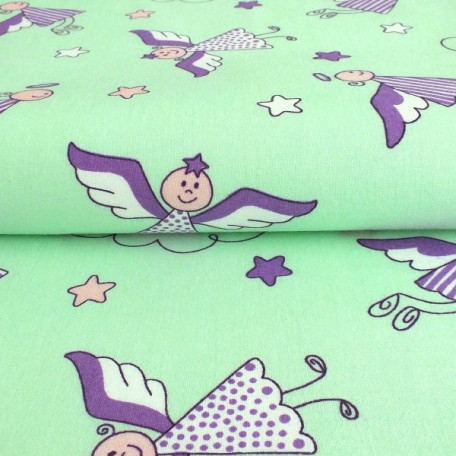 Children's - Cotton plain - Green - 100% cotton