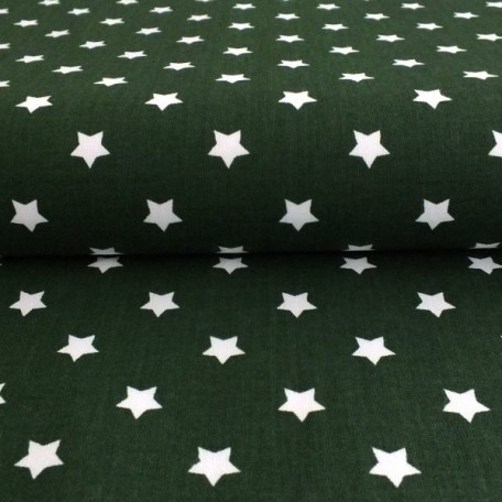 Stars - Cotton plain - Green - 100% cotton
