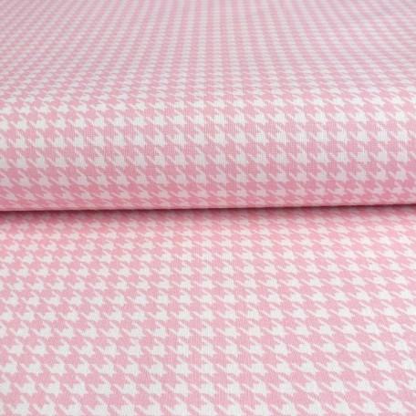 Kostky - Bavlněné plátno - Růžová - 100% bavlna/100% PVC