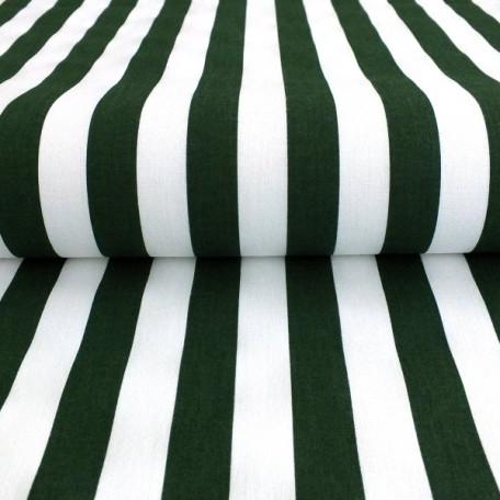 Stripes - Cotton plain - Green - 100% cotton