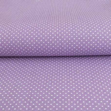 Puntíky - Bavlněné plátno - Fialová - 100% bavlna