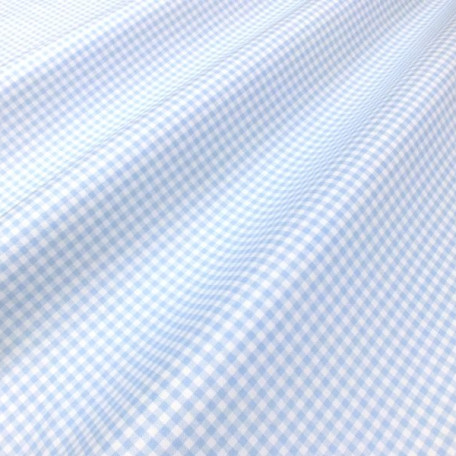 Checks - Cotton plain - Blue - 100% cotton