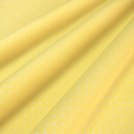 Children's, Flowers - Cotton plain - Yellow - 100% cotton