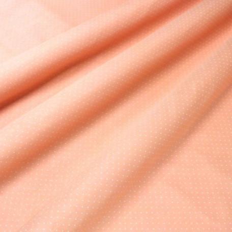 Puntíky - Bavlněný satén - Oranžová - 100% bavlna