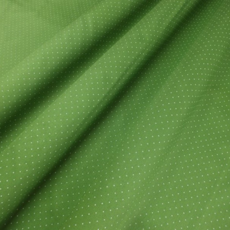 Dots - Cotton Sateen - Green - 100% cotton