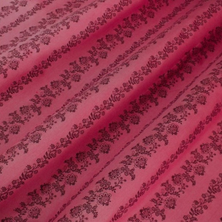 Flowers - Cotton Sateen - Pink - 100% cotton
