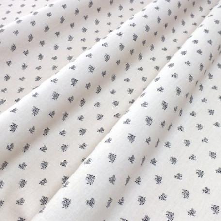Flowers - Cotton Sateen - Beige - 100% cotton