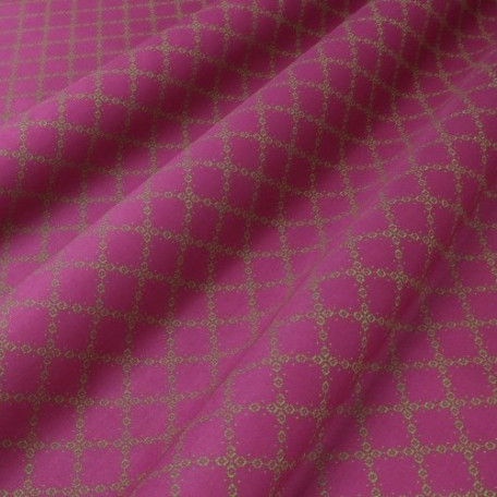 Abstract, Ornaments - Cotton Sateen - Pink - 100% cotton