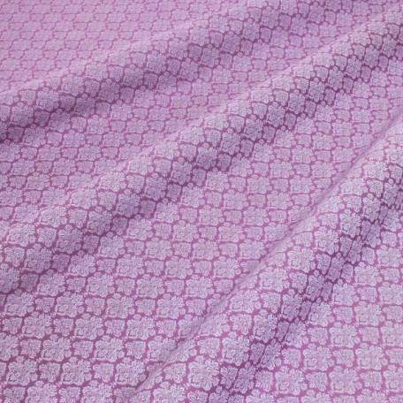 Ornamenty - Bavlněný satén - Fialová - 100% bavlna