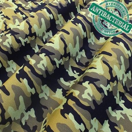 Ornamenty, Abstraktní - Bavlněný popelín - Zelená, Žlutá - 100% bavlna