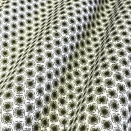 Ornamenty - Dvojmo skaný kepr - Zelená - 100% bavlna