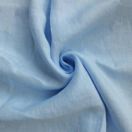 Naše UNI - Lněné plátno - Modrá - 100% len