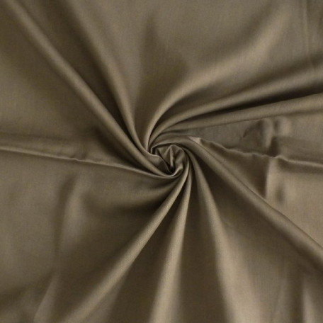 Naše UNI - Bavlněný satén - Hnědá - 100% bavlna