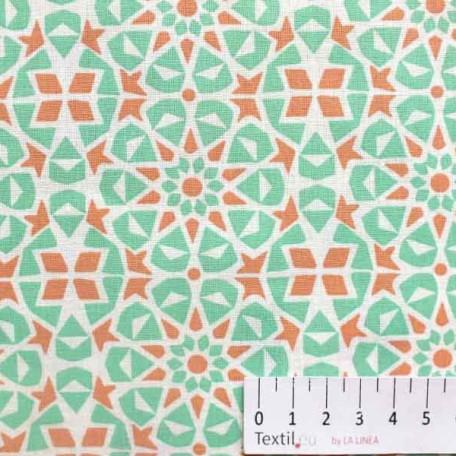 Ornamenty, Dětské - Bavlněné plátno - Zelená - 100% bavlna