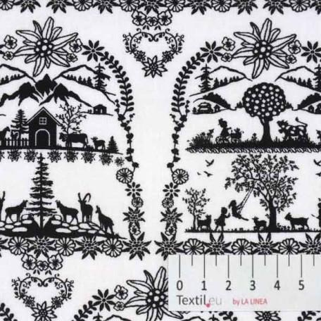 Bavlněné plátno - Černá - 100% bavlna