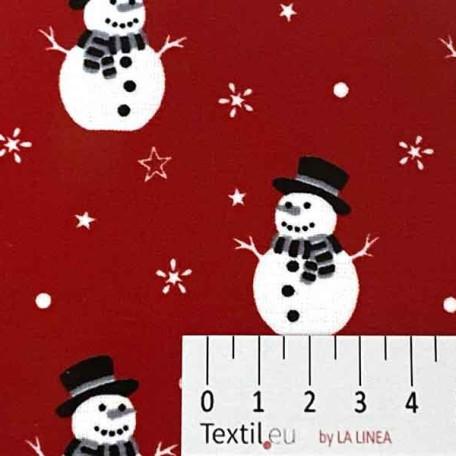 Vánoce - Bavlněné plátno - Červená - 100% bavlna/100% PVC