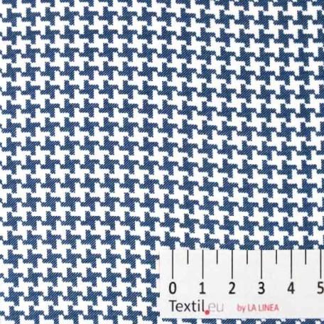 Abstraktní - Dvojmo skaný kepr - Modrá - 100% bavlna
