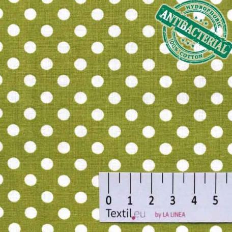 Puntíky - Bavlněné plátno - Zelená - 100% bavlna