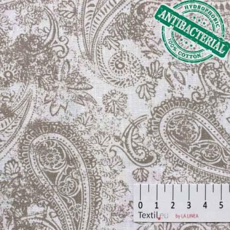 Ornamenty - Bavlněné plátno - Hnědá - 100% bavlna