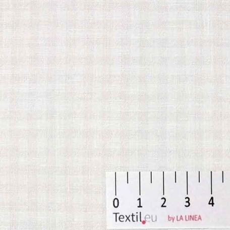 Kostky - Lněné plátno - Bílá - 100% len