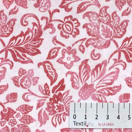 Květiny - Bavlněné plátno - Růžová - 100% bavlna