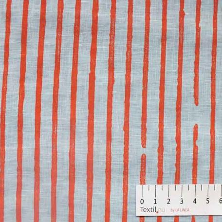 Pruhy - Bavlněný popelín - Červená - 100% bavlna